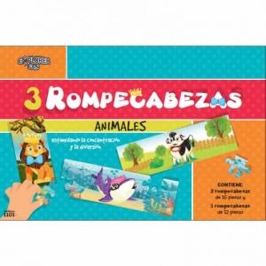 3 ROMPECABEZAS ANIMALES