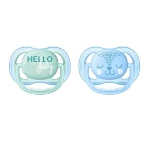 CHUPETE ULTRA AIR HELLO BABY  0-6 NENE x 2